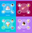 cartoon wedding celebration symbols banner set vector image
