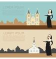 Catolic church banner2 vector image vector image