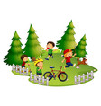 children playing in park vector image vector image