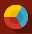 circle diagram icon flat vector image vector image