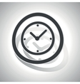 Clock sign sticker curved vector image vector image