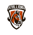 colorful logo sticker horse emblem beautiful vector image vector image