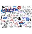 crazy modern doodles vector image