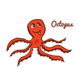 Cute cartoon octopus vector image vector image