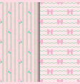 cute pattern lollipop and bow in pink vector image vector image