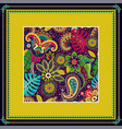 decorative frame with pattern color print vector image vector image