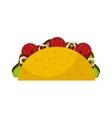 delicious mexican burrito fast food icon vector image vector image