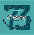 denim company original vector image vector image