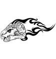 dinosaurus ankylosaurus head art vector image vector image
