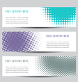 Dot banners vector image vector image