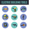 electric building tools vector image vector image