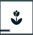 flower icon gardening vector image vector image
