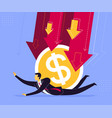 getting pressed currency vector image vector image