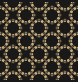 gold and black seamless pattern with circles vector image vector image