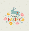 happy easter greeting card invitation with hand vector image vector image