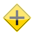 Intersection Ahead Sign vector image vector image