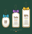label and tag colorful ribbons design vector image vector image