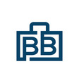letter bb business briefcase logo template