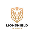 lion shield logo icon vector image