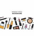 makeup tools background vector image