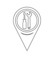 map pointer tool icon vector image vector image