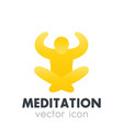 meditation icon logo element vector image vector image