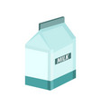 milky box breakfast graphic vector image