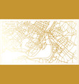 montreal canada city map in retro style in golden vector image