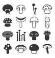 mushroom cute icon vector image vector image