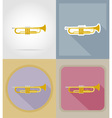 music items and equipment flat icons 14 vector image vector image