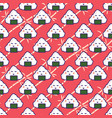 onigiri rice ball seamless red pattern vector image vector image