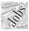 Pharmaceutical Jobs Offer Good Pay Word Cloud vector image vector image
