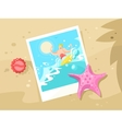 photos surfer on a wave crest vector image