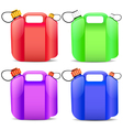 plastic gasoline container vector image vector image