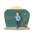 pupil port locker with school bag vector image