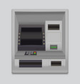 realistic detailed 3d atm machine interface vector image