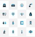 religion colorful icons set collection of arabian vector image vector image