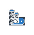 salary related glyph icon vector image vector image