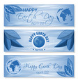 set blue banners for earth day april 22 vector image vector image