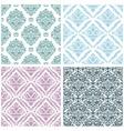 set damask floral seamless pattern vintage vector image vector image