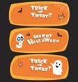 set halloween design for website vector image vector image