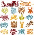 set - mexican symbols vector image