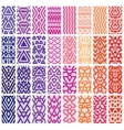 Set of 24 patterns vector image vector image
