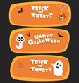 set of halloween design for website vector image