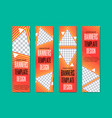 set of vertical web banners with triangular vector image vector image