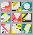 set templates for social media modern design vector image