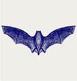 silhouette bat vector image vector image