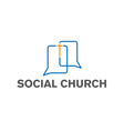 social church design template vector image
