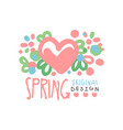 spring love logo template original design vector image