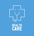 stethoscope health care concept vector image